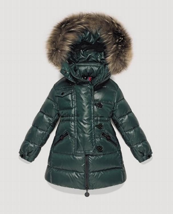 Moncler Enfant Melanie Kids Jacket Dark Green