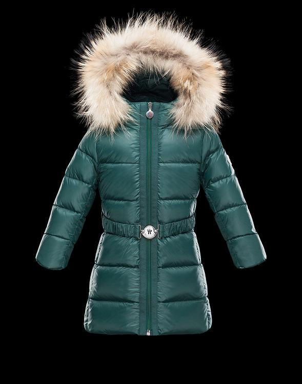 Moncler Enfant Nantesfur Kids Jacket Dark Green