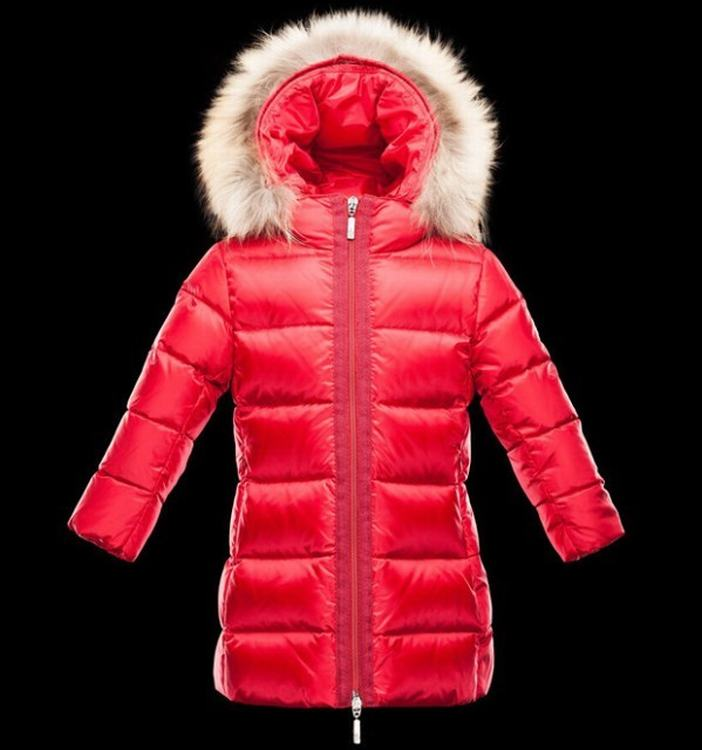 Moncler Enfant Nantesfur Kids Jacket Red