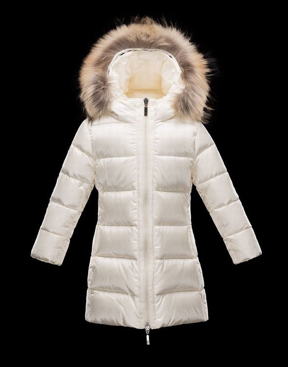 Moncler Enfant Nantesfur Kids Jacket White