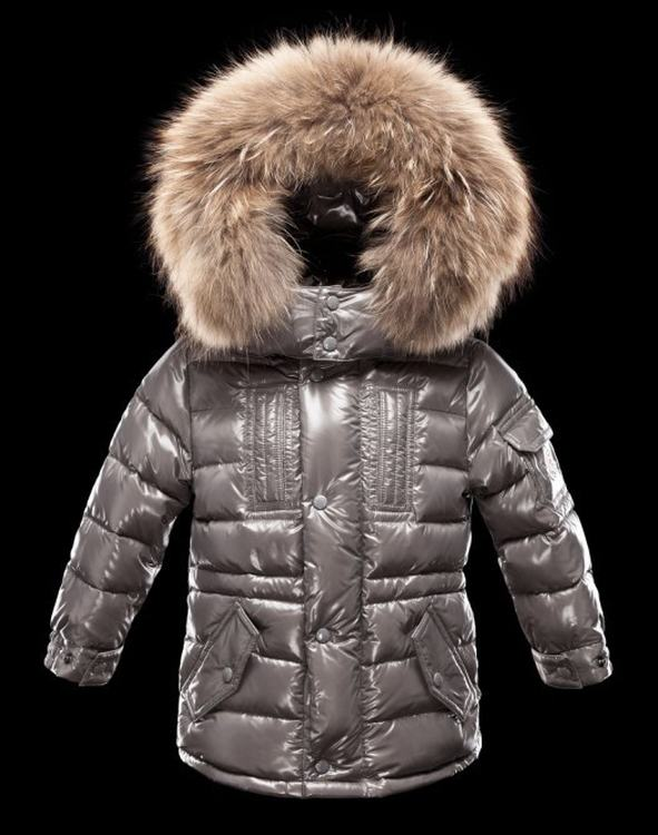 Moncler Enfant Rivier Kids Jacket Silve Grey