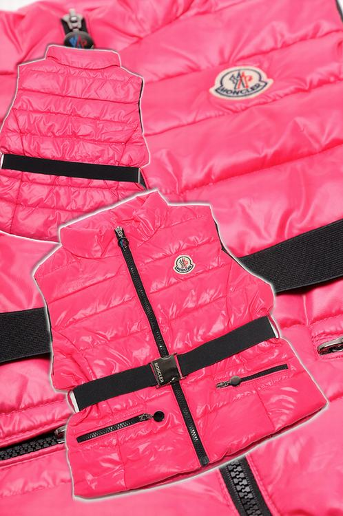 Moncler Gaelle Kids Sleeveless Jacket Pink