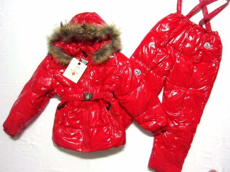 Moncler Jerome for Kids 01 Kids Jacket Red