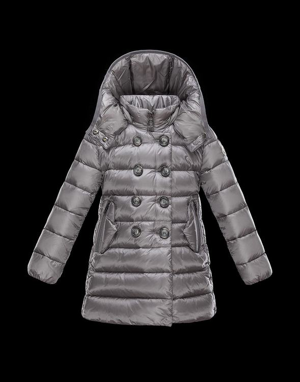 Moncler Mantel Kids Jacket Silver Grey