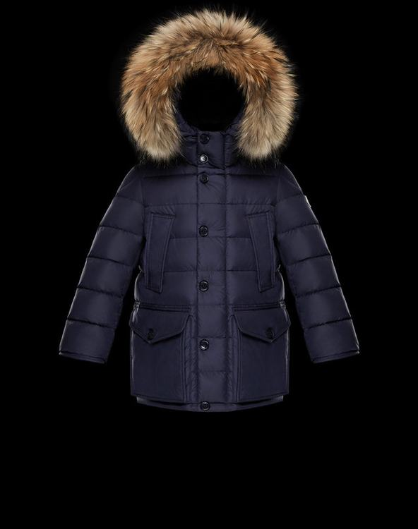 Moncler New Cluny Kids Jacket Blue