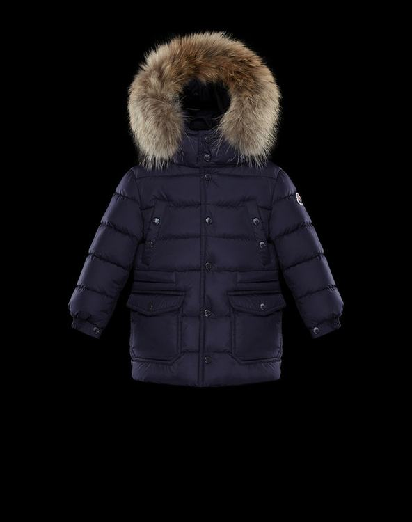 Moncler New Seneca Kids Jacket Blue