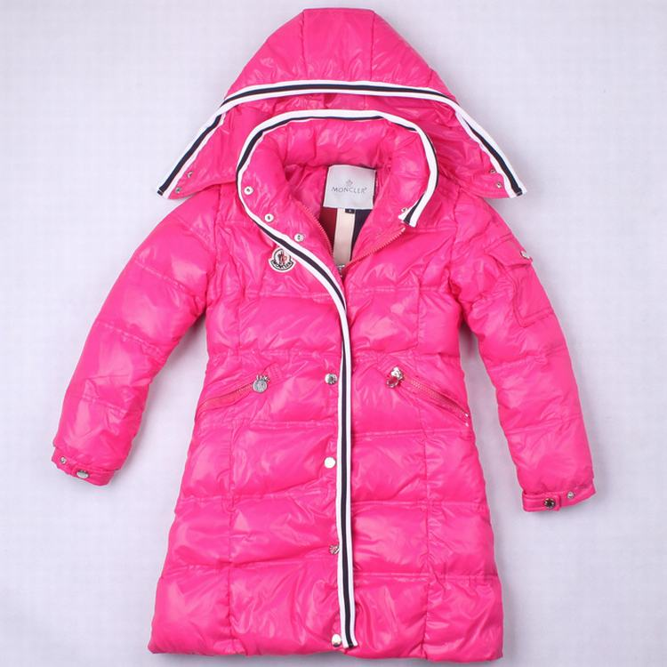 Moncler Quancy 01 Kids Long Jacket Pink