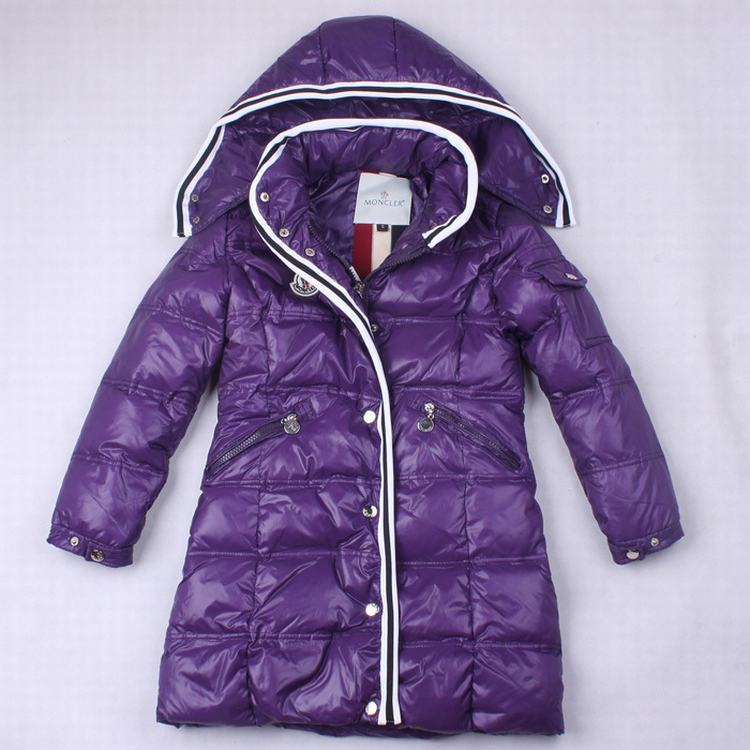 Moncler Quancy 01 Kids Long Jacket Purple