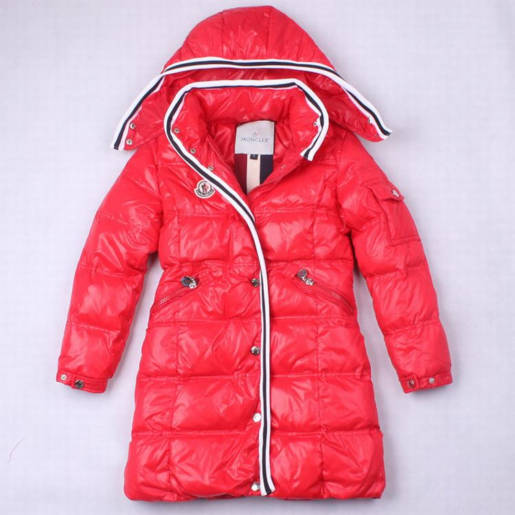 Moncler Quancy 01 Kids Long Jacket Red