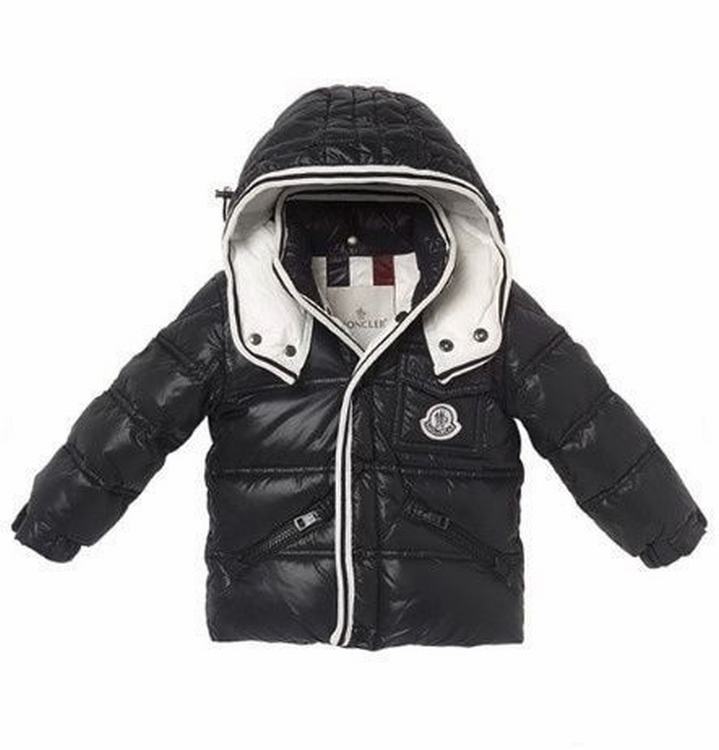 Moncler Quancy Kids Long Jacket Black White