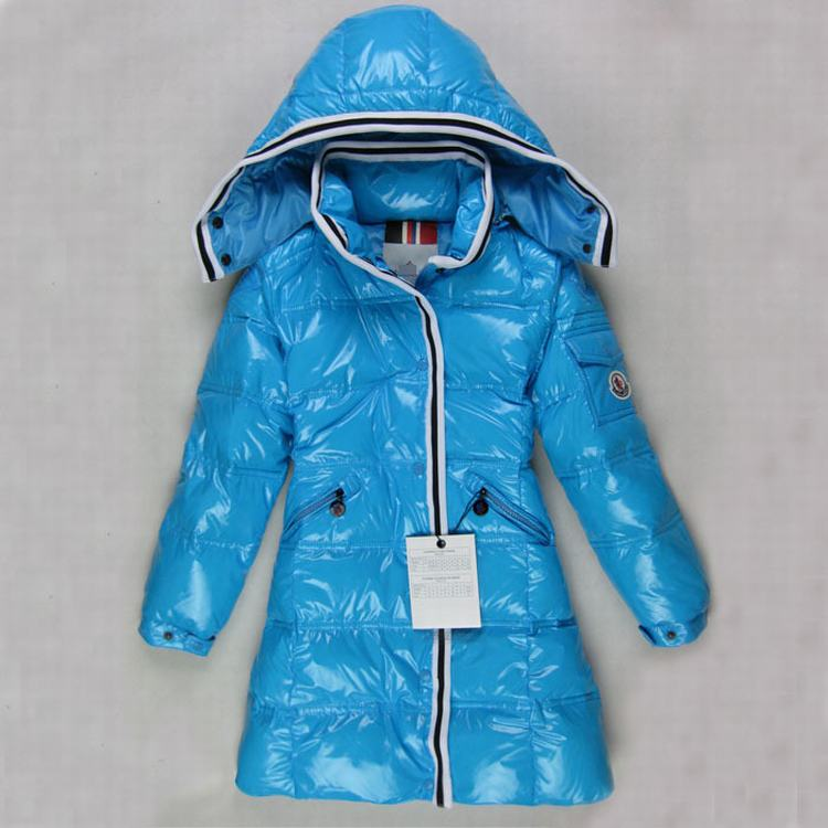 Moncler Quancy Kids Long Jacket Sky Blue