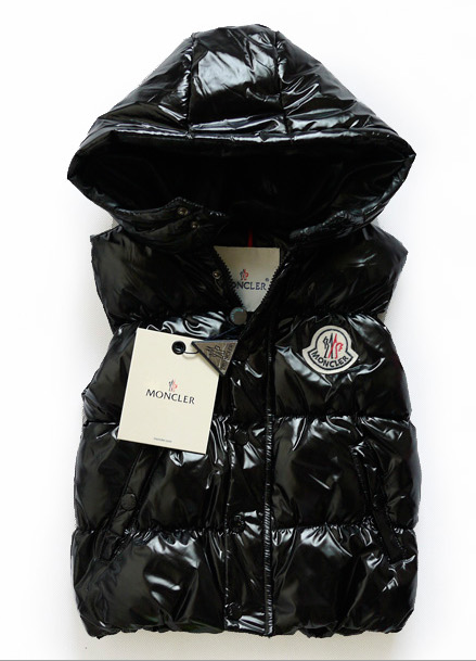 Moncler Sleeveless Kids Jacket Black