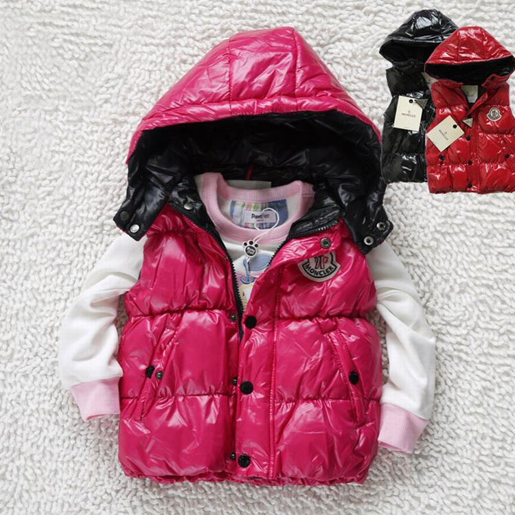 Moncler Sleeveless Kids Jacket Pink