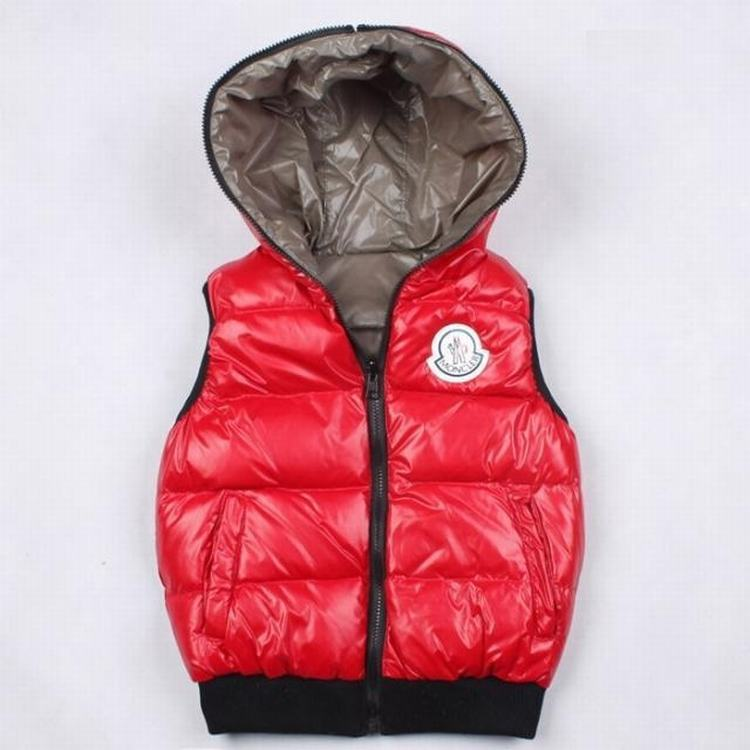 Moncler Theo Kids Jacket Red Grey