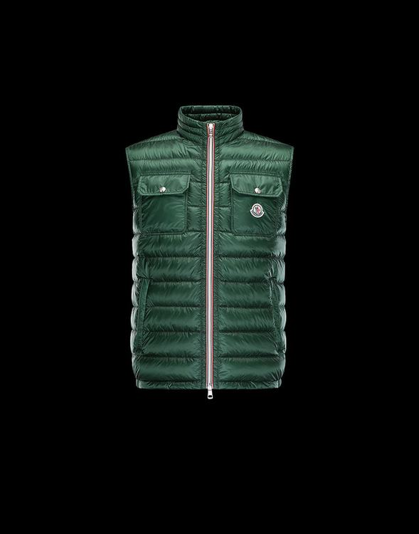MONCLER ACHILLE Men VEST Green