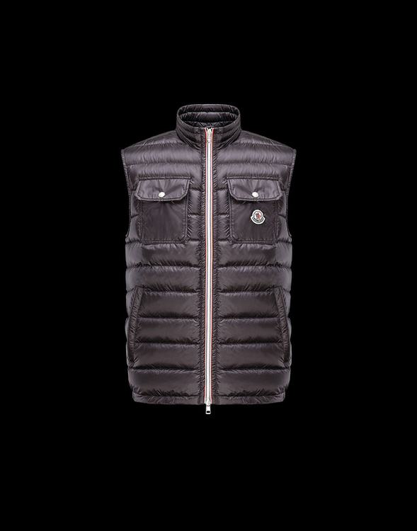 MONCLER ACHILLE Men VEST Wine Red