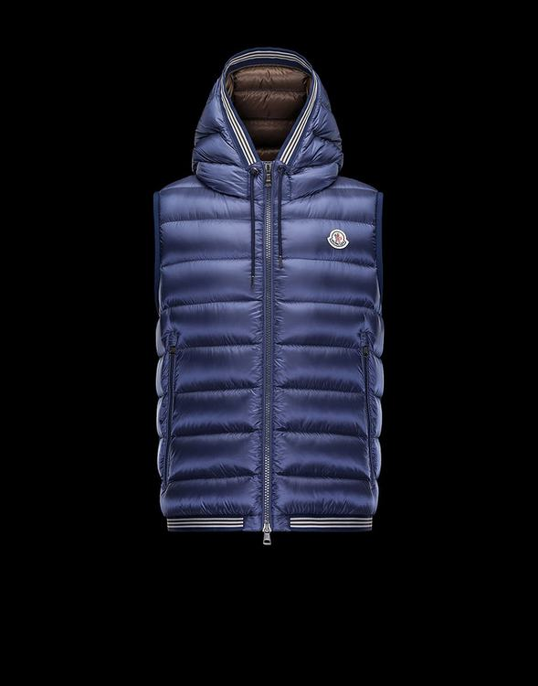 MONCLER AMIENS MEN VEST Blue