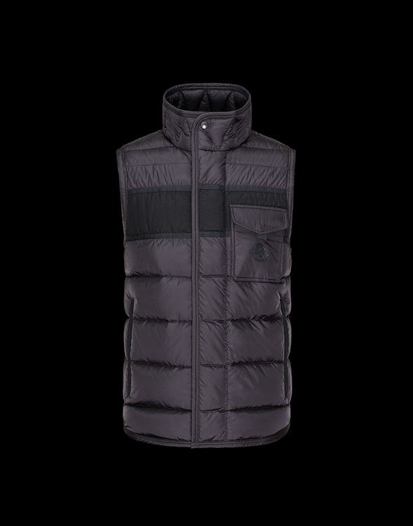 MONCLER ATHOS MEN VEST Wine Red
