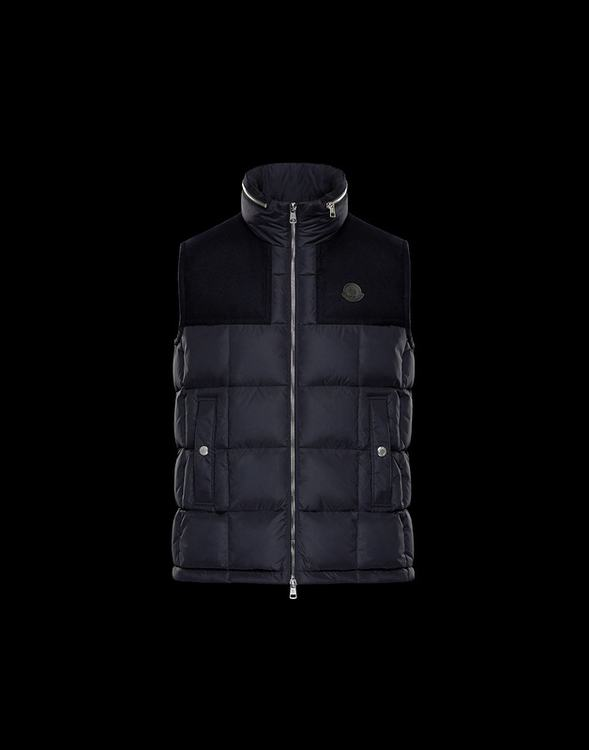 MONCLER CESAR MEN VEST Dark Blue