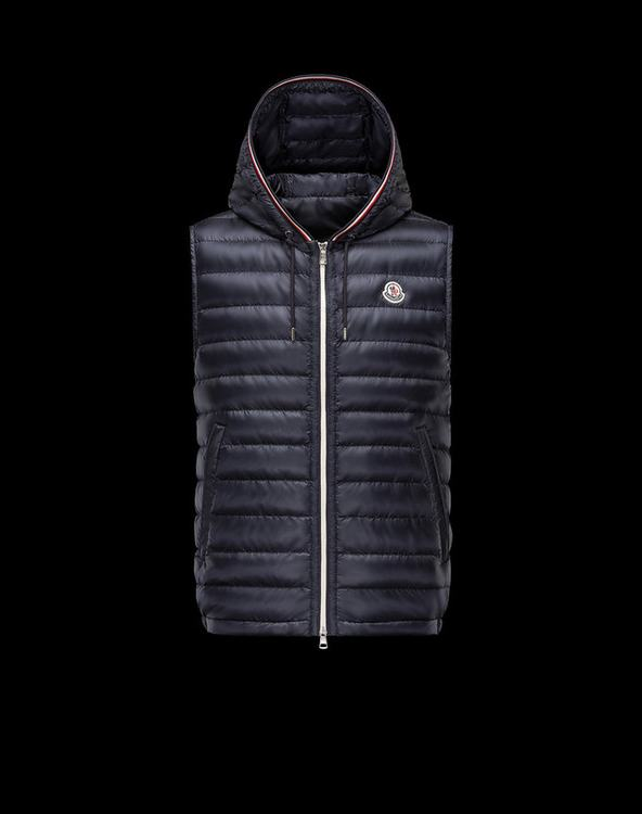 MONCLER CYRIAQUE Men Vest Blue