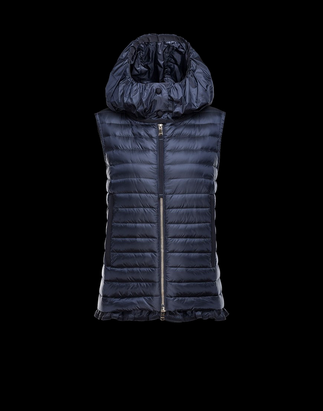 MONCLER EBLE Women Vest Wine Blue