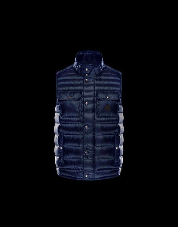 MONCLER EVER Men VEST Blue