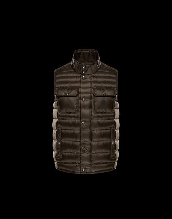 MONCLER EVER Men VEST Brown