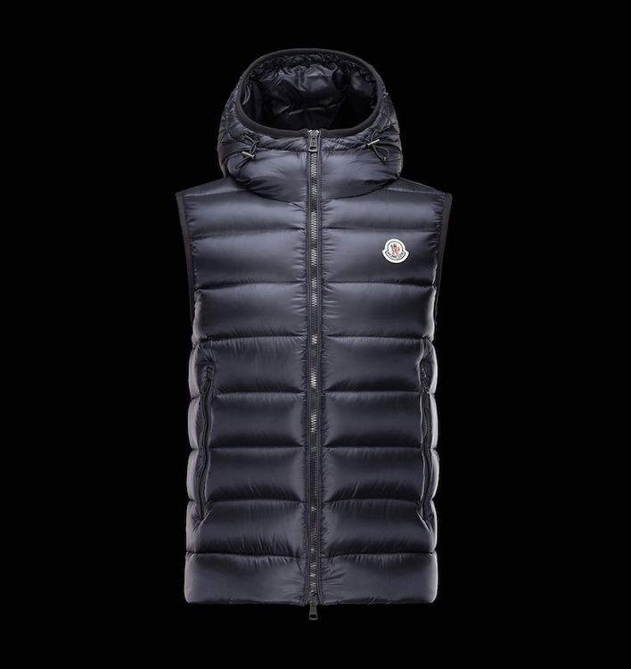 MONCLER RAY Men GILET Dark Blue