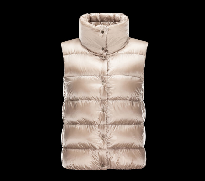 MONCLER SOURCES Woemn GILET Beige