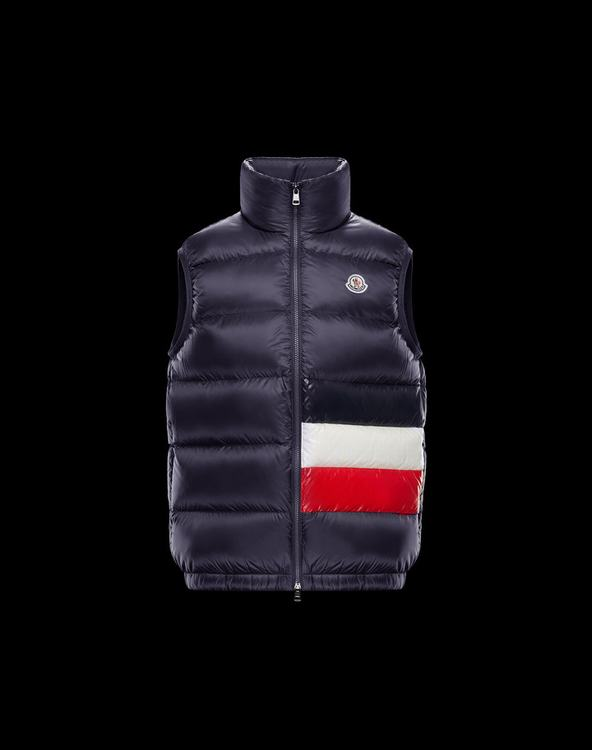 MONCLER SOVEX Men Vest Blue