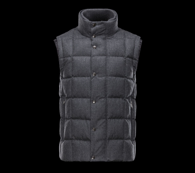 MONCLER TENAY Men GILET Gray
