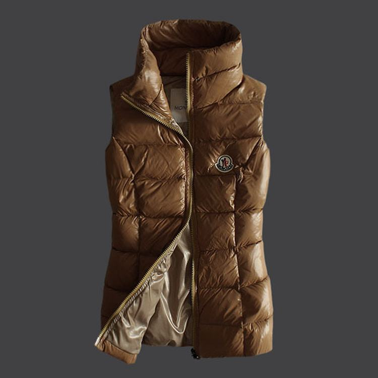 Moncler Masae Women Vest Brown