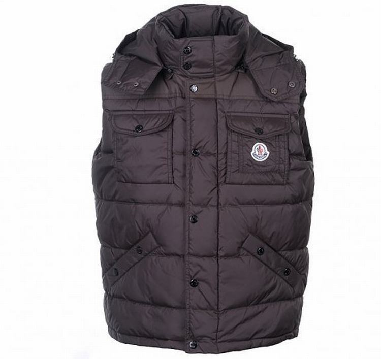 Moncler Noir Men Vest Wine Red