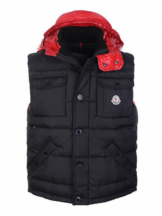 Moncler V7 Men Vest Men Black Red