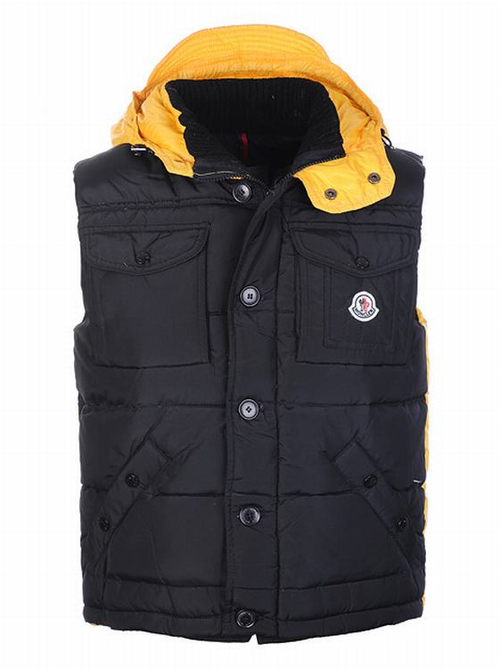 Moncler V7 Men Vest Men Black Yellow