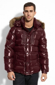 Moncler Rod Men Jacket Wine Red
