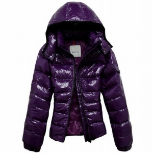 Moncler Bady Mabel Quilted Women Hooded Jacket Purple