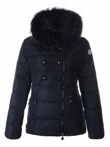 Moncler Elan Women Jacket Dark Blue