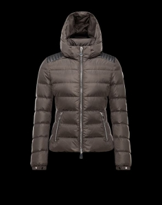 Moncler Fletan Women Jacket Gold Grey