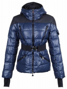 Moncler Ski-Jacket Women Jacket Blue