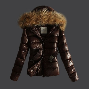 Moncler Angers Women Jacket Brown