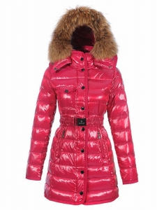 Moncler Armoise Long Women Jacket Pink