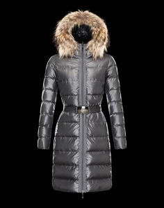 MONCLER NANTESFUR Women Dark Silver