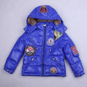 Moncler Badge Kids Jacket Purple Blue