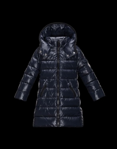 Moncler Capispalla Kids Jacket Dark Blue