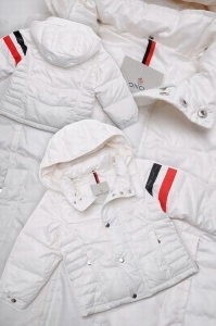 Moncler Chamonix Kids Jacket Cream White