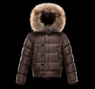 Moncler Enfant Bulgare Kids Jacket Brown