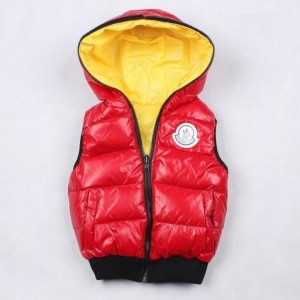 Moncler Theo Kids Jacket Red Yellow