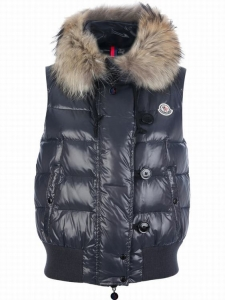 Moncler Tarn Men Women Vest Dark Blue